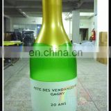 Cheap large inflatable champagne bottle model,advertising champagne bottle,promotional champagne inflatable bottle