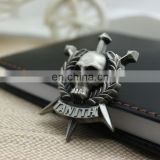 wholesale low price promotional gifts Skull black nickel plating fashion decoration badges