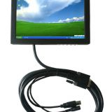 8 Inch Metal Cover HL-807B Monitor with Touch Screen for IPC