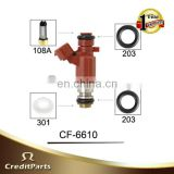 Fuel Injector Parts CF-6610 ( Micro Filter , Viton o ring , Spacer ) for Ni ssan fuel injector