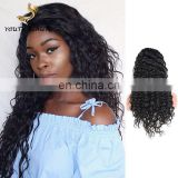 New arrival 100% Malaysian human virgin 9A hair full lace wig in deep wave cuticle alinged hair