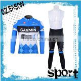 High quality blue long sleeve design cycling clothing custom                                                                                                         Supplier's Choice
