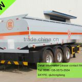 China carbon steel 40000-60000L 3 axles fuel tanker truck trailers for africa 0086-13635733504