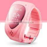Remote bluetooth GPS Tracking device phone watch for kids with SOS emergency calling function