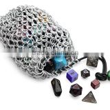 Stainless Steel Chain Mail Gaming Dice Bag,Chainmail Ring Wire Mesh For Packaging