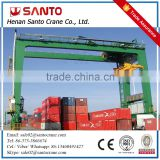 Safety And Realiable Steel Structure 45Ton Double Girder Container Rubber Tyre Gantry Crane price
