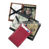 Fashion genuine leather magic wallet