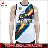 best design Digital Print mens o neck rugby jersey in thailand