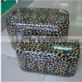 new arrived wholesale decorative handmade Synthetic leather living room storage bench sitting stool                                                                         Quality Choice