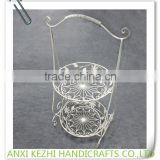 KZ8-06045 Metal Decorative New flexible 2 Tiers Wire Fruit Basket