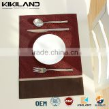 China placemat factory waterproof handmade dinner table mat