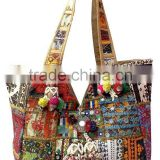 Beautiful Indian Tribal Designer Cotton banjara Hand Bag With Marvelous banjara work with handmade embroidery work all over