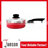 18cm Aluminum Ceramic Sauce Pan/Aluminum Press Sauce Pan with Black Bakelite Handle