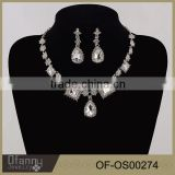 bridal jewelry diamond glass big European and American export trade of the original single piece necklace earring set