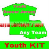 2016 Thai quality Short Sleeve Youth soccer jersey Sport Wear kit Free shipping to Russia
