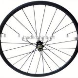 High quality 700c road bicyle for clincher or tubular carbon wheelset carbon tri-spoke wheel