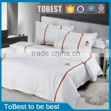 ToBest Hotel supplies factory Launch New styles 100% Cotton Star Hotel Bedding hotel bed sheet / hotel bed linen