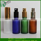 cosmetic frosted glass bottle with metal spray empty packaging bottles skin care cosmetic bottle                                                                         Quality Choice