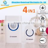 Portable Bluetooth Alarm Anti Lost Alarm Door Chime Deaf doorbell light Smart loud doorchime