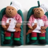 cartoon cotton oven glove kitchen funny oven mit with customize design -003 little bear chef