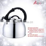 19CM, 2.5L Stainless Steel Whistling Water Kettle Food Grade for coffee,water,tea etc AEK-204