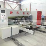 high speed full automatic corrugated paperboard flexo ink printing slotting die cutting carton packaging machine