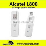 Brand new cheap Original Unlock 4G USB Modem LTE FDD 100Mbps Alcatel L800 And 4G LTE Dongle for nanosation