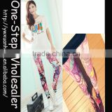 New Arrive beautiful girls fashion leggings ladies shining leggings Printed leggings