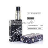 Simple marbling yep sub two box mod with great vapor portable electronic cigarette for man and woman smoking cessation