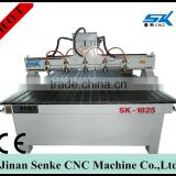 multi heads 1325 high speed 3d cnc router/wood door making cnc router cutting/wooden door design cnc router machine