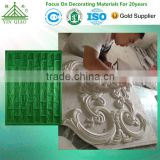 Decorative Plaster 3D Wall Panel Gypsum Fiberglass FRP Moulds Mold
