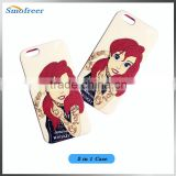 Two in one Plastic Cellphone Case for iphone 6, Cartoon Little girl mobile phone back covers for Apple 6S/6 plus