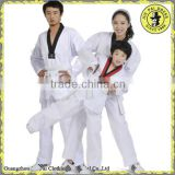 V Neck White Taekwondo Uniform Wtf