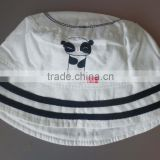 100% cotton popeline striped print and embroidery baby bucket hat,plain cotton baby hats