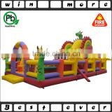 New design Inflatable fun city dinosaur toy, dinosaur theme park inflatable bouncer for kids outdoor playground