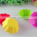 7cm Mulit-color Silicone Round Muffin Cup Cake Mould Baking Molds Pudding Ice-cream Moulds Baking Cake Tool Mold Factory Outlet