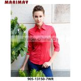 new style red color women shirt latest ladies office wear designs fashion lady office wear
