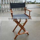 high bar chair, Wood folding director chair
