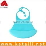Alibaba New Products 100% Silicone Baby Safe Material Waterproof Soft Silicone Pvc Bib Cock China Plastic Neoprene Bib