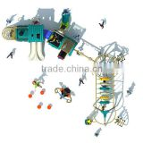 Polpular age-of-steam style outdoor amusement park equipment with 10 optional site sizes