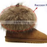 Natural raccoon dog fur boot toppers real raccoon skin fur boot cuff
