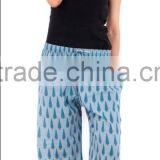 Indian Hand Block Printed Baggy Trouser Harem Pants For Women