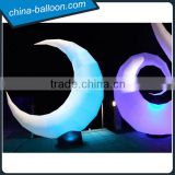 Charming decorative inflatable lighting moon / giant inflatable led moon