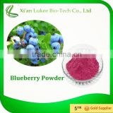 Organic Blueberry Powder Bilberry Fruit Powder/ frozen blueberry Pterostilbene