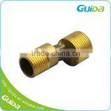 High Pressure Metric Lead Gas Custom Turning Quick Connect Small Miniature Red Brass Tee Water Pipe Fittings/Parts
