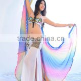 Colorful Gradient Belly Dance Wings Made of Yarn for Performance                                                                         Quality Choice