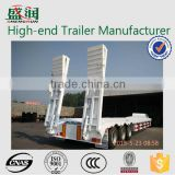 Factory Price 53ft Low Bed Truck Trailer With Hydraulic Ladder