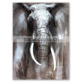 ROYI ART Elephant Oil Painting with stretchered frame Wholesale