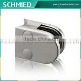 zinc D type glass clamp in railings&balustrades, glass holder clips