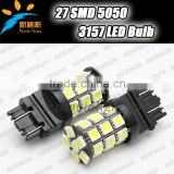 2x High Power 3157 Led turn signal light 27-SMD-5050 White/Amber/Red/Blue/Green 3157 LED Bulbs For Front Turn Signal Light